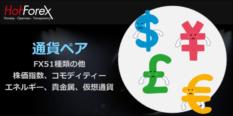 Hotforex 通貨ペア